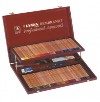 LYRA - Rembrandt Professional Aquarell Wooden Box Set, 106 Pieces