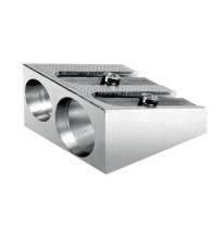 LYRA - twin hole pencil sharpener, metal