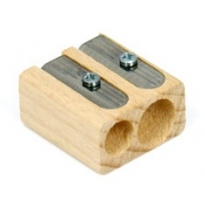 LYRA - twin hole pencil sharpener, beechwood