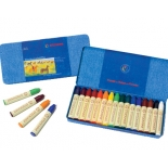 STOCKMAR - stick crayons, tin of 16