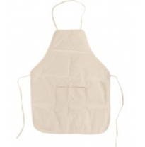KIDS - natural calico apron