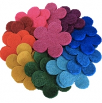 PAPOOSE - craft felt flowers 3.5cm