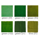 PAPOOSE - craft felt sheets 25cm, greens