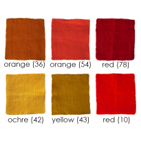 PAPOOSE - craft felt sheets 25cm, red/yellow