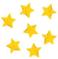 PAPOOSE - craft felt stars, yellow