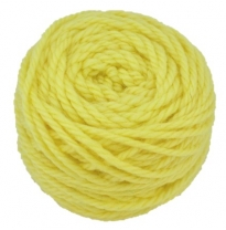 Ozi Wool - 16 ply wool yarn 50g, lemon yellow