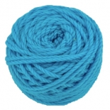 Ozi Wool - 16 ply wool yarn 50g, peacock blue