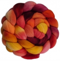 Kathy's Fibres - merino rovings, autumn leaves