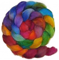 Kathy's Fibres - merino rovings, stained glass