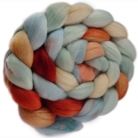 Kathy's Fibres - merino rovings, sugared almond