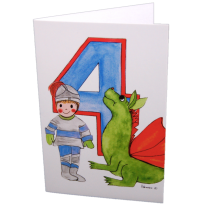 Hemer Australia - greeting card, age 4 knight & dragon