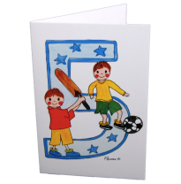 Hemer Australia - greeting card, age 5 sporting boys