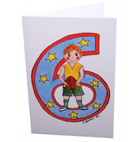 Hemer Australia - greeting card, age 6 boy & ball