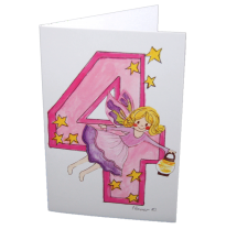 Hemer Australia - greeting card, age 4 misty fairy