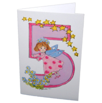 Hemer Australia - greeting card, age 5 forget-me-not fairy