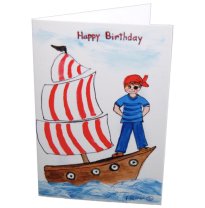 Hemer Australia - greeting card, pirate pete at sea