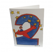 Hemer Australia - greeting card, age 2 boy & plane