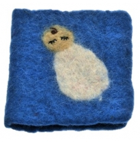 PAPOOSE - felt gift card, blue