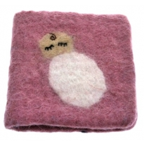 PAPOOSE - felt gift card, pink