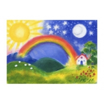 The Sarah Laidlaw Collection - large greeting card, rainbow