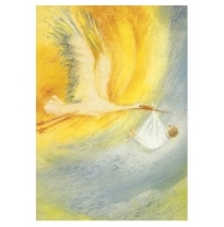 Marjan van Zeyl - greeting card, stork