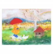 The Sarah Laidlaw Collection - large greeting card, august