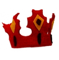 PAPOOSE - felt crown, red king crown