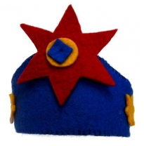 PAPOOSE - felt crown, blue with star