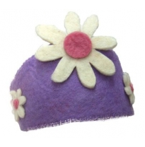 PAPOOSE - felt crown, purple with flower