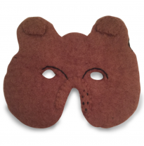 PAPOOSE - felt mask, bear