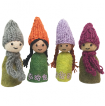 PAPOOSE - felt finger puppets, forest friends 12cm