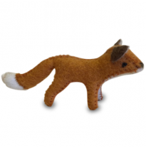 PAPOOSE - felt animal, fox 15cm