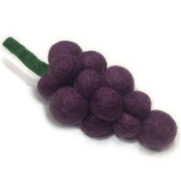 PAPOOSE - felt food, grapes 14cm