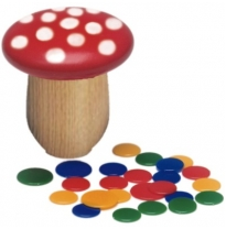 Glückskäfer - wooden toadstool tiddlywinks