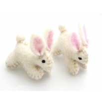 PAPOOSE - felt animal, bunny rabbit 4cm