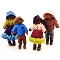 PAPOOSE - felt doll family, african