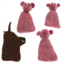 PAPOOSE - finger puppet gift boxed set, 3 little pigs