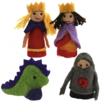 PAPOOSE - finger puppet gift boxed set, king & queen