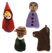 PAPOOSE - finger puppet gift boxed set, red riding hood