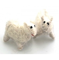 PAPOOSE - felt animal, sheep 6cm