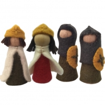 PAPOOSE - felt kings, queens & knights, 9cm