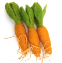 PAPOOSE - felt food, carrot 11cm
