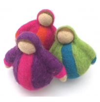 PAPOOSE - felt roly poly dolls, 9cm