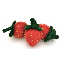 PAPOOSE - felt food, strawberry 7cm