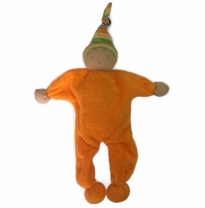 blessed earth - waldorf doll, orange