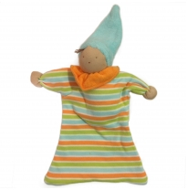 blessed earth - waldorf doll, aqua stripe