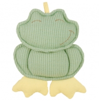 dandelion - organic cotton rattle, frog