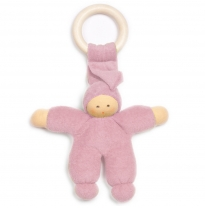 nanchen natur - teething ring doll, pink