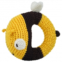 dandelion - handcrafted pudgy rattle, bee