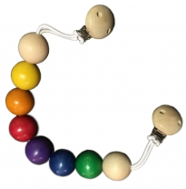 Glückskäfer - wooden pram chain, coloured